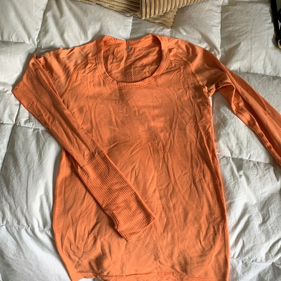 Orange lululemon long sleeve